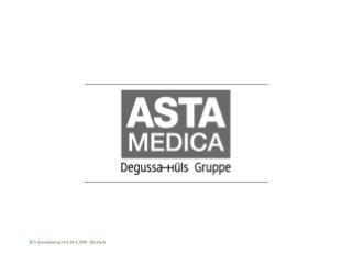 Sales of Degussa-Hüls Segments
