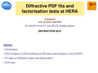 Diffractive PDF fits and factorisation tests at HERA