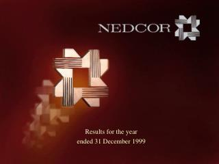 Results for the year ended 31 December 1999