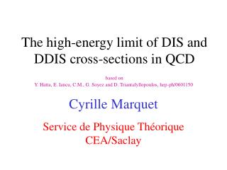 The high-energy limit of DIS and DDIS cross-sections in QCD