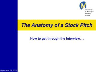 The Anatomy of a Stock Pitch