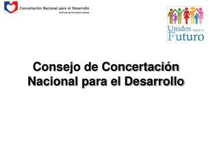 Consejo de Concertación Nacional para el Desarrollo