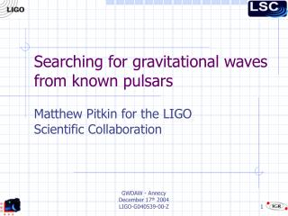 Searching for gravitational waves from known pulsars