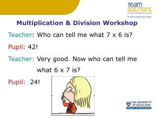 Multiplication & Division Workshop