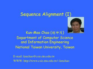 Sequence Alignment (I)