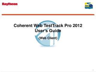 Coherent Web TestTrack Pro 2012 User's Guide (Web Client)