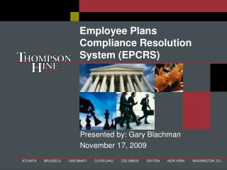 Employee Plans Compliance Resolution System EPCRS