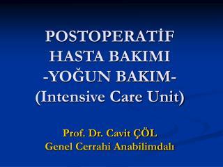 Yoğun Bakım Ünitesi (ICU)