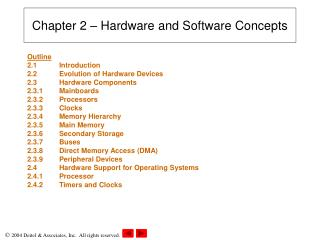 Chapter 2   Hardware and Software Concepts