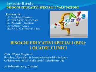 Seminario di studio BISOGNI EDUCATIVI SPECIALI E VALUTAZIONE