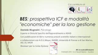 """BES : prospettiva ICF e modalità """"economiche"""" per la loro gestione"""