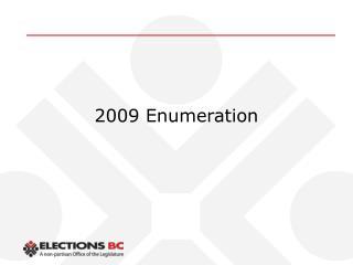 2009 Enumeration