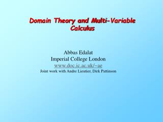Domain Theory and Multi-Variable Calculus