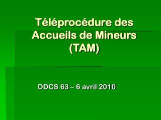 Téléprocédure des Accueils de Mineurs (TAM)