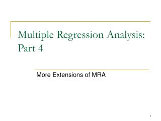 Multiple Regression Analysis: Part 4
