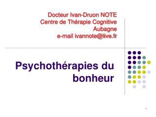 Psychothérapies du bonheur