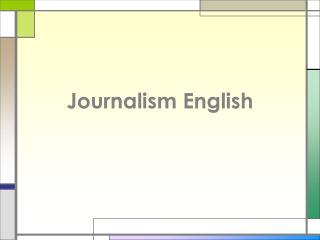 Journalism English