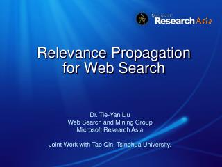 Relevance Propagation  for Web Search