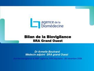 Bilan de la Biovigilance SRA Grand Ouest