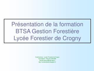 Présentation de la formation BTSA Gestion Forestière Lycée Forestier de Crogny