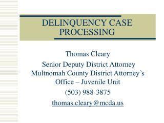 DELINQUENCY CASE PROCESSING