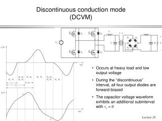 Discontinuous conduction mode (DCVM)