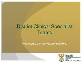District Clinical Specialist Teams