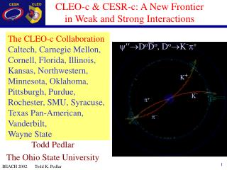 CLEO-c & CESR-c: A New Frontier in Weak and Strong Interactions