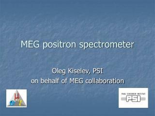 MEG positron spectrometer