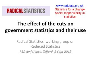 The effect of the cuts on government statistics and their use