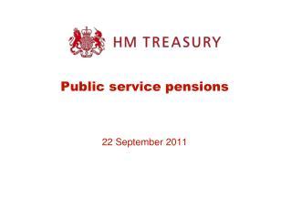 Public service pensions