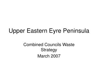 Upper Eastern Eyre Peninsula