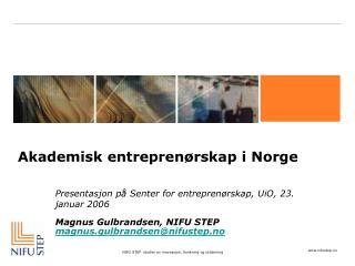 Akademisk entreprenørskap i Norge