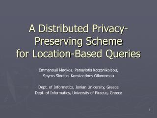 A Distributed Privacy-Preserving Scheme for Location-Based Queries