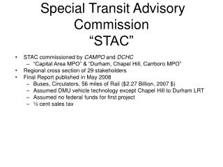 "Special Transit Advisory Commission ""STAC"""