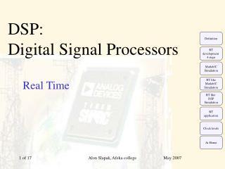 DSP:  Digital Signal Processors