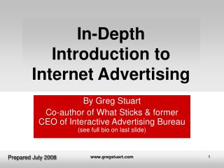 In-Depth  Introduction to Internet Advertising
