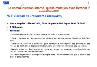 RTE, R�seau de Transport d�Electricit�,