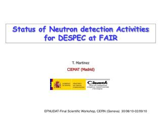 Status of Neutron detection Activities for DESPEC at FAIR