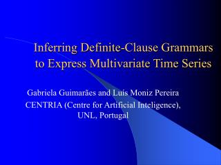 Inferring Definite-Clause Grammars  to Express Multivariate Time Series