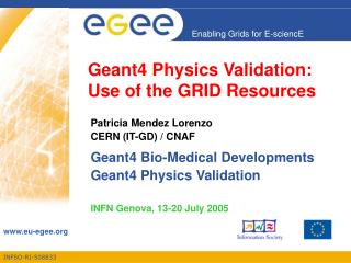 Geant4 Physics Validation: Use of the GRID Resources