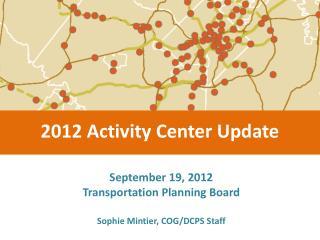 September 19, 2012 Transportation Planning Board