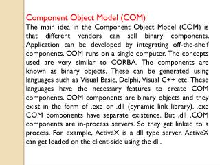 Component Object Model (COM)