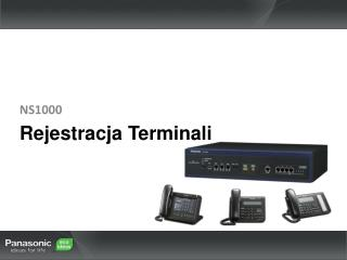 Rejestracja Terminali