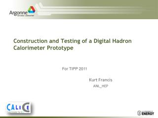 Construction and Testing of a Digital  Hadron  Calorimeter Prototype