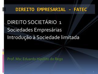 DIREITO EMPRESARIAL - FATEC