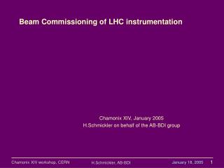 Beam Commissioning of LHC instrumentation