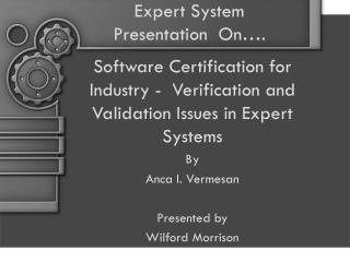 Expert System Presentation  On .