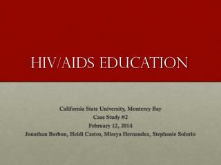 HIV/AIDs Education