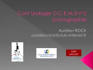 Conf  Urologie  D.C.E.M.3 n�2 Iconographie